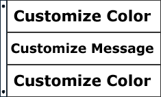 Customize 3 Color Message Flag