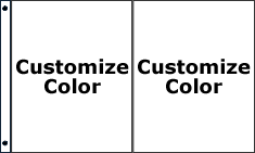 Customize 2 Color Vertical Standard Flag