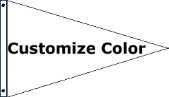 Customize 1 Color Pennant Flag