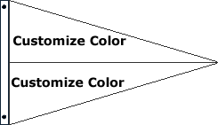 Customize 2 Color Pennant Flag